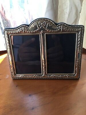 Double Aperture Antique Hallmarked Silver Picture Frame