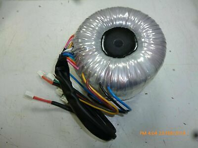 Toroidal Transformer 230v with 6 secondaries each at 23V 5A, 23 volt 5 amp