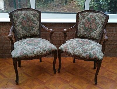 2 Reproduction Victorian ArmChairs