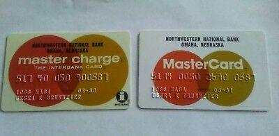 Vintage Master Charge '80 and Master Card '81 Matching Credit Card #'s Interbank