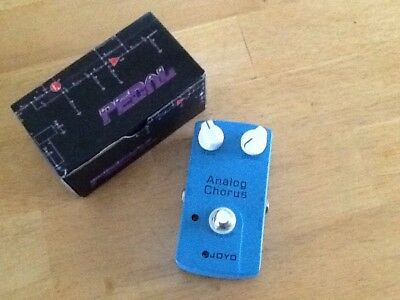 New JOYO Analog chorus,JF 37 Effects Pedal,free Patch Cord. U.S.