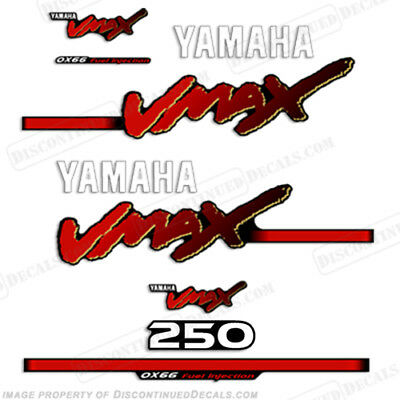 Yamaha 250hp VMAX Outboard Decals - Reproduction Decals in Stock 200 1998-2004