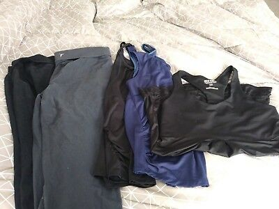 Mixed Lot of size Lg Maternity Fitness/workout Clothes : capri pants & tops