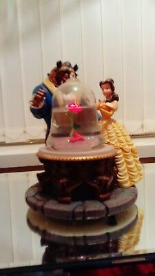Beauty and the Beast musical light up snow globe