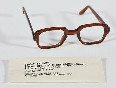 NEW Military Surplus Vintage Eyeglass Frames BCG Birth Control Glasses FREE SHIP