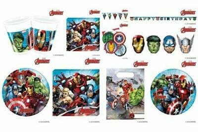 Mighty Marvel Avengers Birthday Party Cups/Plates/Tableware/Decoration/Balloons