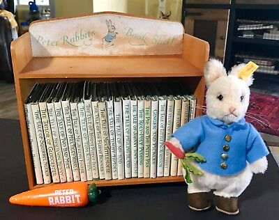 VINTAGE BEATRIX POTTER PETER RABBIT COMPLETE BOOK SET OF 23 FROM 1930's -40's