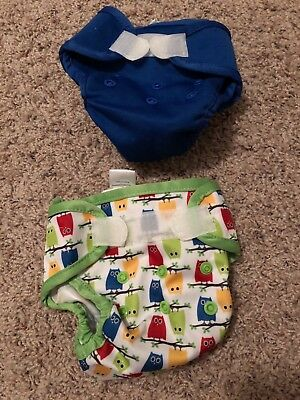 2 Newborn Cloth Diaper Covers Sweet Pea Brand