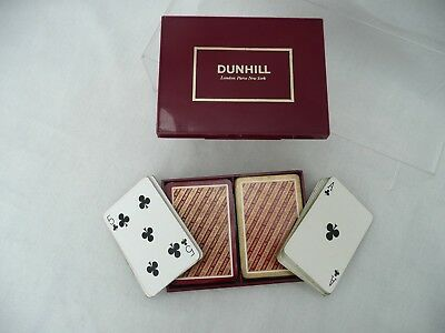 *dunhill London Paris Vintage Twin Deck Playing Cards In Presentation Box*