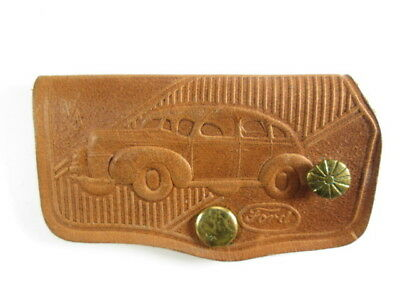 1939 Ford - Mackemer Motor Co. - Leather key case fob ring