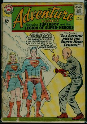 DC ADVENTURE Comics #325 Superboy Legion Of SuperHeroes Supergirl Luthor GD 2.0