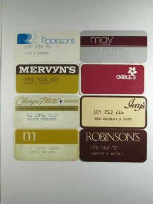 Retail Store Credit Cards - Group of 8