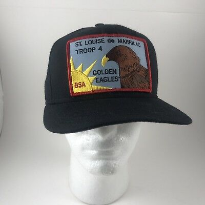 Vintage Boy Scouts BSA Snapback Hat Golden Eagles St Louise De Marrilac New Era