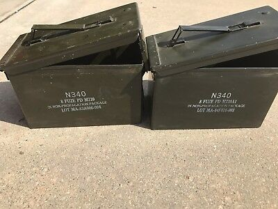 Grade 1  50 cal empty ammo cans 12 Total Fuse Fuze Cans