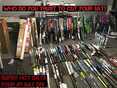 Slow Or Fast Pitch Softball Shaved Bats! Shaved, Rolled, Poly Homerun Derby Bats
