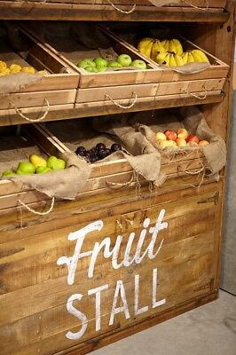 Handmade Bespoke Wooden Recycled Timber Stall Cafe Restaurant Retail