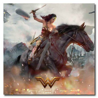 Wonder Woman Justice League Riding Horse 20x20inch Movie Silk Poster