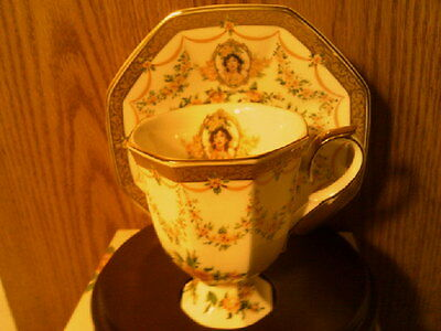 RHTF AVON 1994 Honor Society Mrs Albee Cup & Saucer with wood display-New in Box