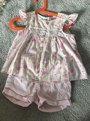 Girls Next Ditsy Flower Tunic Top And Shorts Age 2-3 Years