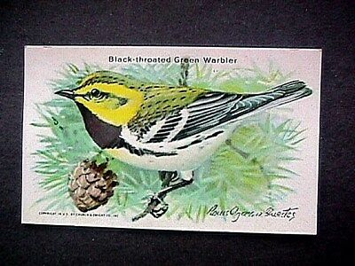 Black Throated Green Warbler Trade Card Cow Brand & Arm & Hammer Advertising