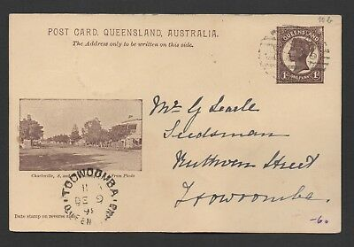 """Charleville"" Post Card 1898 - Bar Numeral Type 2a # 323 Kincora (?)"