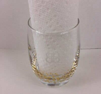 Baileys Whiskey Glass with Gold Circle Accents Bubbles Dots Tumbler Irish