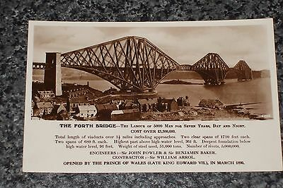 The Forth  Bridge  Factual   Photo Postcard Vintage  Unposted  Vgc