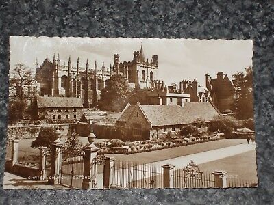 CHRIST CHURCH  OXFORD     PHOTO  POSTCARD VINTAGE POSTED   1960s ?  VGC