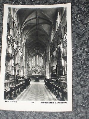 Worcester Cathedral  The Choir   Photo  Postcard Vintage Unpost Vgc