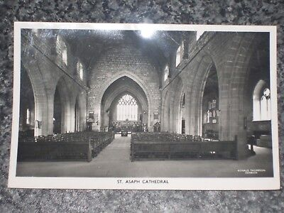 St Asaph Cathedral Nave  Flintshire     Photo  Postcard Vintage   Vgc
