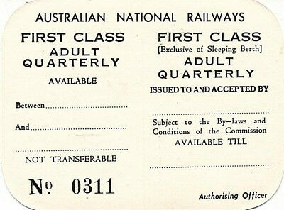 ANR First Class Adult Quarterly ticket