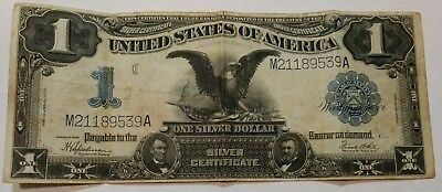 1899 series BLACK EAGLE large size $1US silver certificate. Nice VF M21189539A