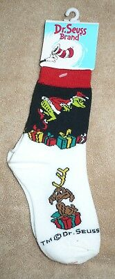 Holiday Kids Socks Dr. Seuss's The Grinch, and Halloween Bats