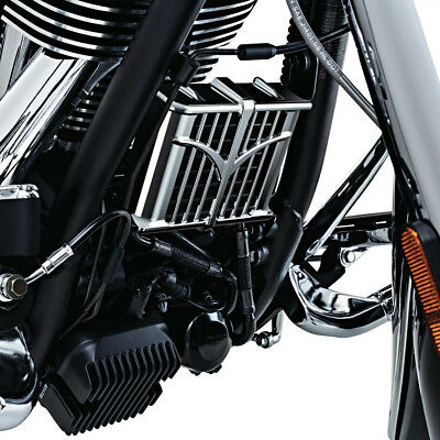 Indian Chief / Roadmaster Chrome Oil Cooler Cover Grill Guard Kuryakyn 5640