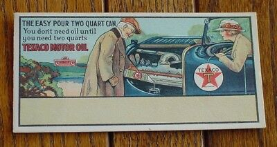 "1920s TEXACO ""easy-pour two quart can"" blotter."