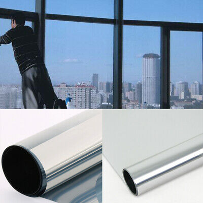 50x100cm Mirror Reflective One Way Solar Window Film Foil Insulation Sticker Hot