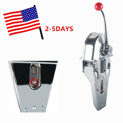 USA Boat Single Control Lever Marine Engine Outboard Control Handle Top Mount CE
