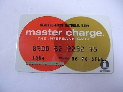 Vintage 1970 MASTER CHARGE from SEATTLE FIRST NATIONALl Bank CREDIT CARD