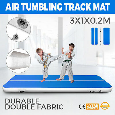 1x3M Air Track Home Floor Gymnastics Tumbling Mat Inflatable GYM Cheerleading
