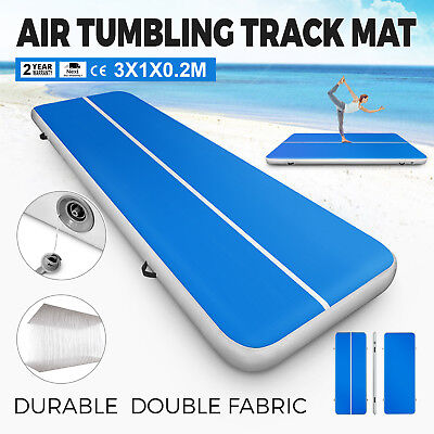 1X3M Home Gymnastics Tumbling Air Track Floor Mat Inflatable Track GYM