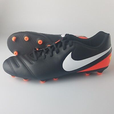 best sneakers d9cfd 04c51 Nike Tiempo Rio III FG Soccer Cleats Men s Size 11 Black White Crimson  819233