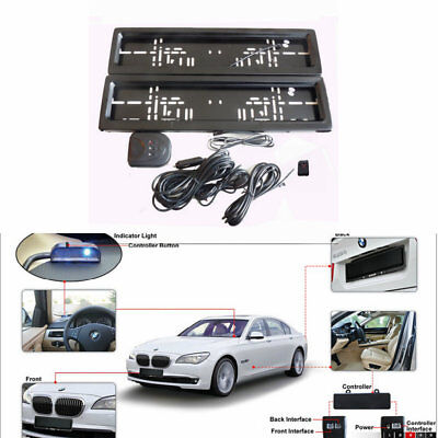 EU Auto Hide Device Stealth Curtain License Plate Number Shutter Protect Cover