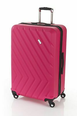 New Lanza Ziggy 75cm Hard Suitcase Luggage Black,Pink by-Strandbags