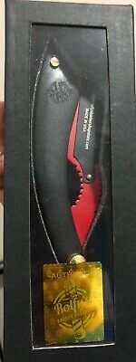 professional barber straight razor red and black with gold free shipping nice