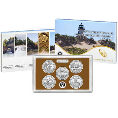 In stock!!! 2018-S America the Beautiful Quarter Proof Set, with Box & CoA