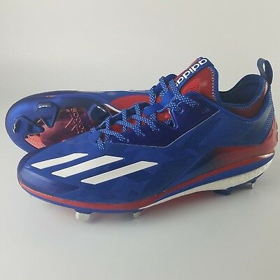 the latest 4292f 15dbc Adidas Boost Icon 2.0 Metal Baseball Cleats Men s Size 13 Kris Bryant Red  Blue