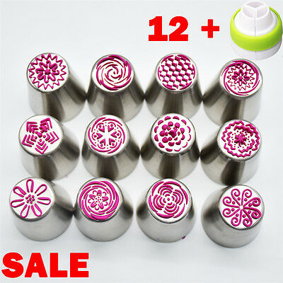 12 Pcs/set Hot Sell Russian Icing Piping Nozzles Pastry Tips Fondant Cake Decor