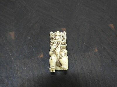 Antique Japanese Signed Netsuke Animal , Authentic, NR