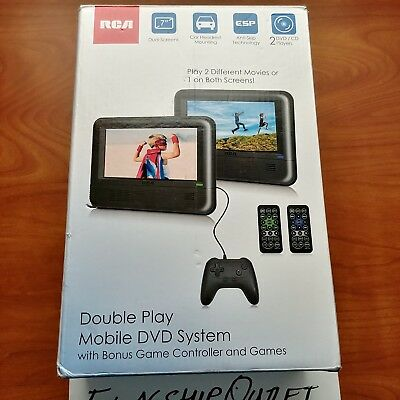 Rca Double Play Mobile Dvd System W/game Controller & Games !new!
