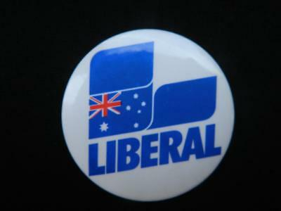 1990's Circa Liberal Party Campaign Button Badge with Working Lapel Pin.